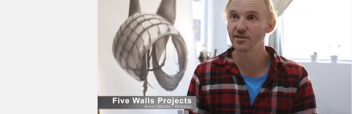 Roy Chu interviews Aaron Martin about Five Walls (includes interviews with other artist run spaces and their directors)
